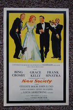 High Society Lobby Card Movie Poster Bing Crosby Frank Sinatra