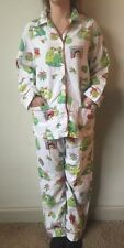 Nick And Nora Women's Medium Pajamas White Frog Kissing Bells Ornament Two Piece