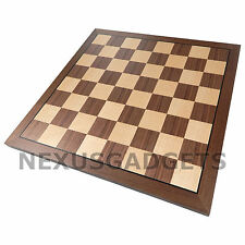 Kingstan Chess 15 INCH Large MAPLE & WALNUT Wood Game Set Flat Inlaid BOARD ONLY