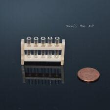 1:12 Dollhouse Miniature Science Geek Test Tube on a Rack/Miniature Secience D52