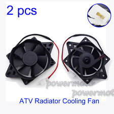 2PCS Radiator Electric Cooling Fan For Chinese 200 250cc ATV Quad Go Kart Buggy