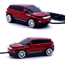 Limited Edition - Land Rover Range Evoque Racing Car Shape Usb Wired Mouse Red