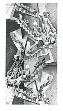 HOUSE OF STAIRS ART PRINT BY MC ESCHER mathematical infinity symmetry poster