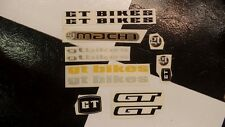 NOS GT Decal STICKER SET for Old School BMX Bike Bicycle