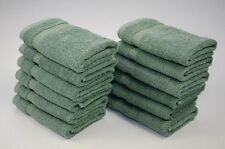 Luxury Hotel and Spa Collection Bath Wash Cloths Set of 12 100% Turkish Cotton