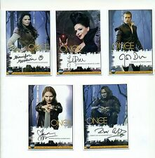 Once Upon a Time Set of 5 Autograph Reprint Cards Evil Queen Rumplestilskin