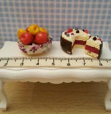 pommes+gâteau 1/12 maison de poupée vitrine dollhouse