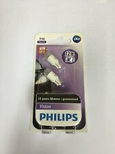 PHILIPS Vision LED T10 W5W 6000K White Bulb Parking Number Plate Side Light Bulb