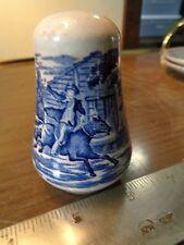 Vtg Liberty Blue Staffordshire Salt Shaker w/ Paul Revere