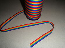 Scandinavian Swedish Cotton Fabric Trim Ribbon Braid 5 yards - Rainbow Pride