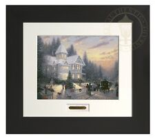 Thomas Kinkade Victorian Christmas Modern Home Collection Espresso Frame