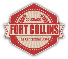 "Fort Collins City Colorado State USA Travel Car Bumper Sticker Decal 5"" x 4"""
