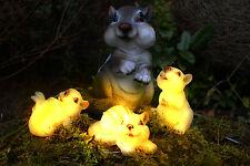 """Solarleuchte """"Eichhörnchenfamilie"""" Solarlampe Gartenlampe LED Eichhörnchen NEU!!"""