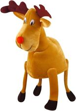 Christmas Reindeer Hat with Red Nose & Ears