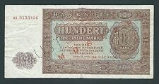 F.C. ALEMANIA , 100 MARCOS 1955 , MUSTER , B/C ( FINE ) , P.21 .