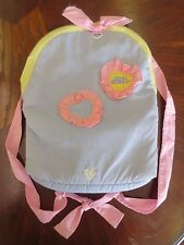 Vintage RARE Mattel Magic Nursery Girl Baby Doll Carrier Backpack Toy Carry Bag