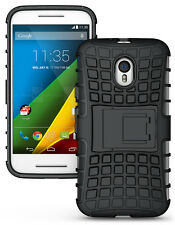 iDefend Motorola Moto G4 4th Generation Black Heavy Duty Shockproof Case Cover