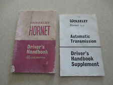 Original Wolseley Hornet Mk III owner's manual & automatic trans supplement