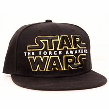 OFFICIAL STAR WARS THE FORCE AWAKENS SYMBOL/ LOGO BLACK SNAPBACK CAP HAT *NEW