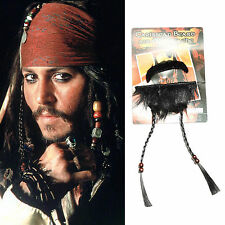Pirates of the Caribbean Jack Sparrow Cosplay Barbas de chivo Bigote Mustache