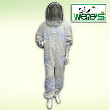 Three Layer Mesh Ventilated Vented Beekeeping Suit Hooded Veil Bee Farm Clothing