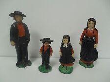 Vintage Lead Metal Amish Dutch Farm Family Toy Set