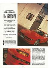 ESSAI ARTICLE PRESSE REPORTAGE BMW ALPINA B12 5.0 COUPE 1991 5 PAGES