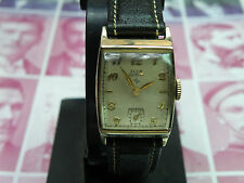 SERVICED 1950`S  ELGIN MEN`S WRISTWATCH...NEW HOG BAND  ...EXTREMELY CLEAN