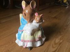 "Schmid Beatrix Potter ""Tale of Two Bad Mice"" music box 1989 Nursery VTG Musical"