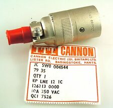 ITT Cannon EP LNE 12 1C 3 Way Cable Connector Locking  MBH007m