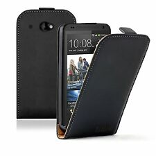 Black ULTRA SLIM Leather Vertical flip case cover pouch for HTC Desire 601