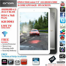 "ONDA V818 mini 7.9"" IPS 16GB A31 QUAD CORE 4.2 ANDROID TABLET PC - HDMI"