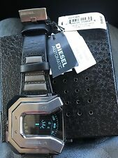 DIESEL Men's DZ7385 'carver' Black Leather Watch New in Box with Tags
