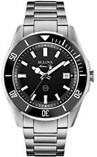 Bulova Marine Star 98B203 Black Dial Stainless Steel Men's Watch