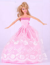 New Fashion  Handmade Pink The original soft clothes dress for barbies doll  35