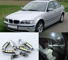 7Pcs Canbus White LED SMD Light Interior Package kit Error Free 12V for BMW E46