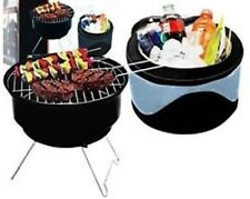 2 IN 1 TABLETOP CHARCOAL GRILL N COOL COOLER CARRYING CASE tailgate PORTABLE