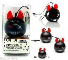 ORIGINALE KitSound Mini Buddy CABLATO DEVIL ALTOPARLANTE PORTATILE UNIVERSALE IPOD IPHONE