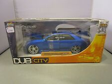 JADA 1/24 DUB CITY BLUE 2002 CADILLAC CTS USED IN BOX *READ* VERY COOL