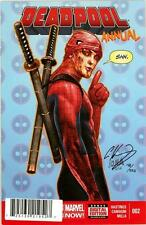DEADPOOL ANNUAL #2 DF DYNAMIC FORCES SIGNED HASTINGS COA LE 225 MOVIE SPIDER-MAN