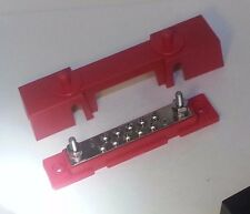 10 Point Terminal Busbar power distribution block w/ cover Red DC 150 amp @ 12v