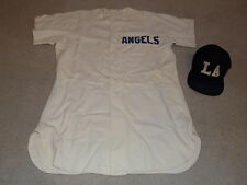 1952 Los Angeles Angels Game Worn Jersey & Hat Pacific Coast League PCL