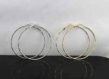Wholesale Mix Lots 50pair stainless steel Silver Gold Charm Big Circle Earrings