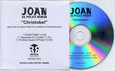 JOAN AS POLICE WOMAN Christobel 2006 UK 3-track promo CD