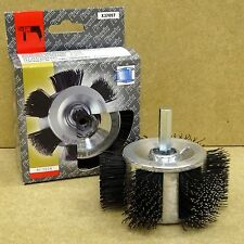 PIRANHA ROTARY DRILL WIRE BRUSH FOR PAINT VARNISH & RUST REMOVAL OF WOOD & METAL