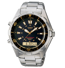 Casio AMW-320RD-1A9 Analog Digital Diver Mens Watch Stainless Steel AMW-320