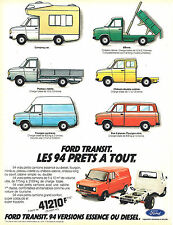 PUBLICITE ADVERTISING 124  1981  FORD  TRANSIT   94 versions