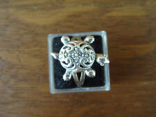 Turtle Moving Legs Head Tail Parts Sterling Silver Ring size 7.5