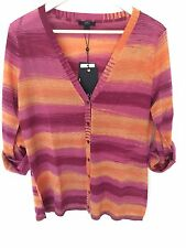 EMU Australia Merino Wool Multi-Coloured Long Seeves Sweater Cardigan L $150