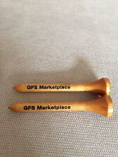 "2 GFS Marketplace Wooden Golf Tees 2"" Long Brown w/ Black Logo - Pre-owned"